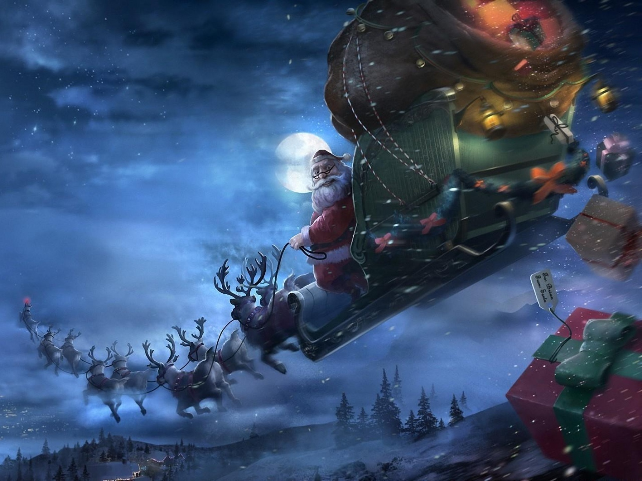 poro kuvia joulupukki taustakuvia lentvt vektori joulu kuvia 1280x960