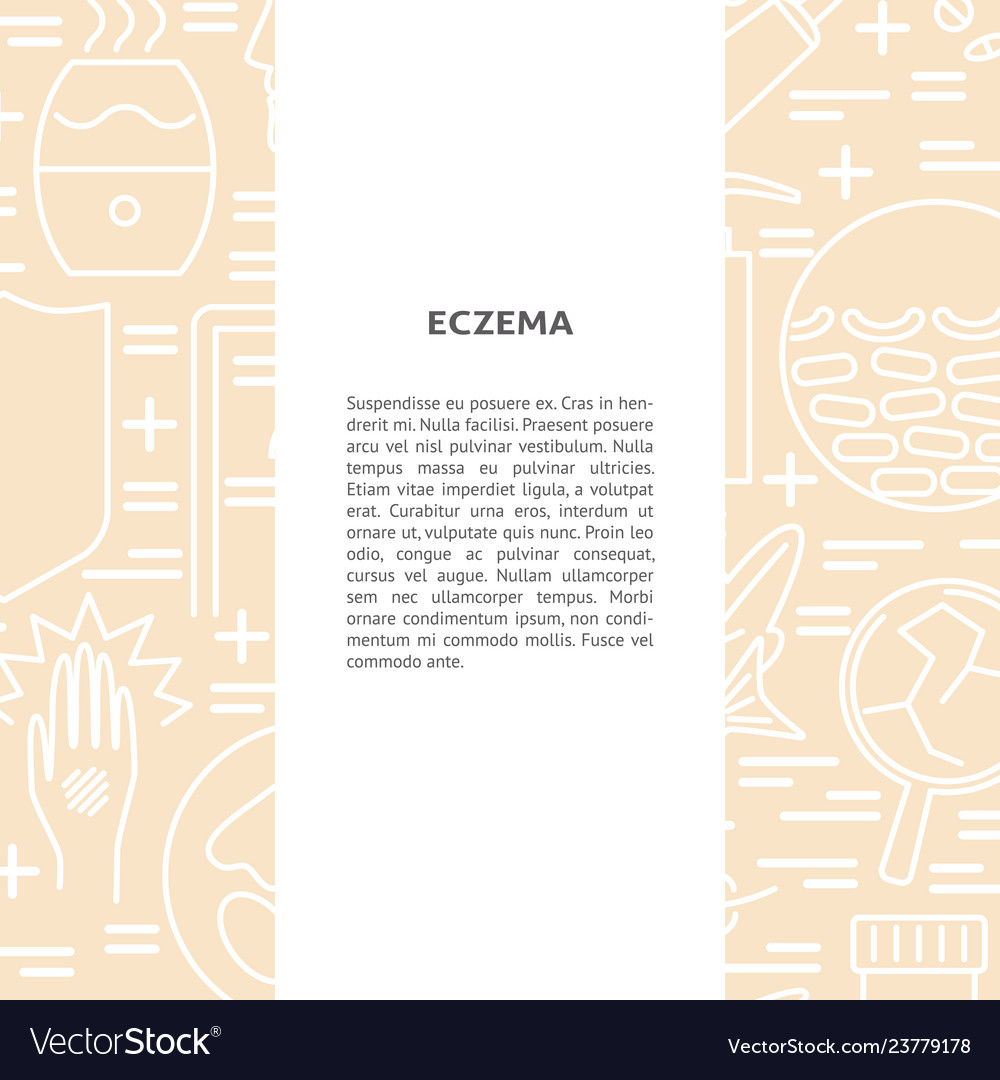 Eczema concept background in line style with place 1000x1080