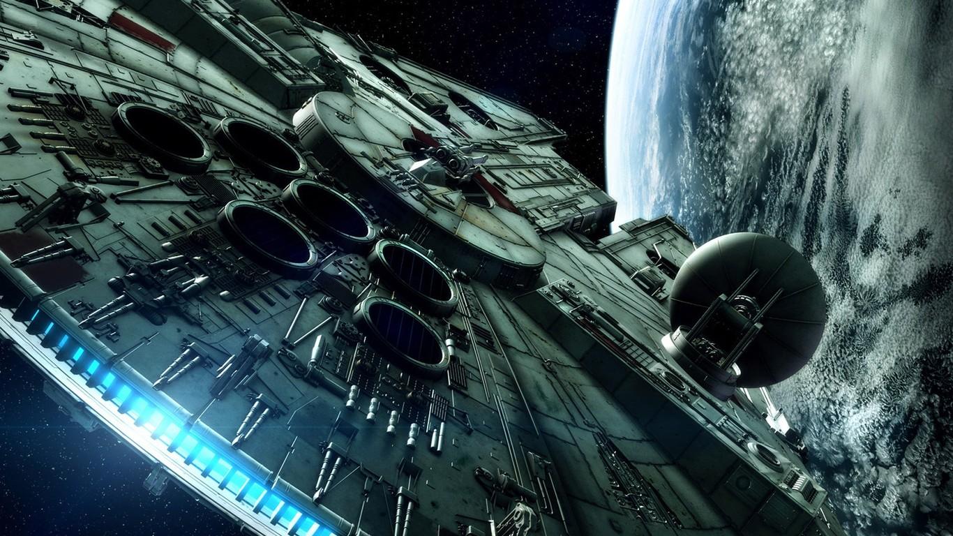 Download The Millenium Falcon   Star Wars wallpaper 1366x768