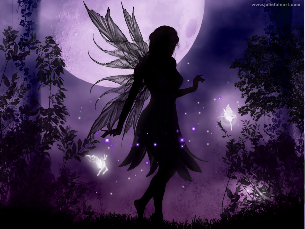 Julie Fain Art silhouette art mermaid art fairy art faery art 1024x768