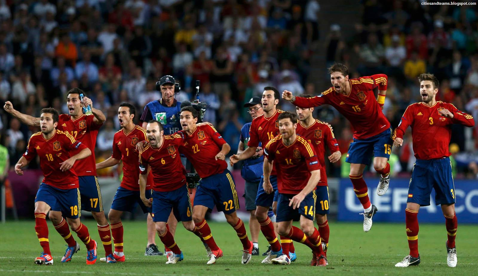 Spain National Football Team Final Celebration Euro 2012 1600x923