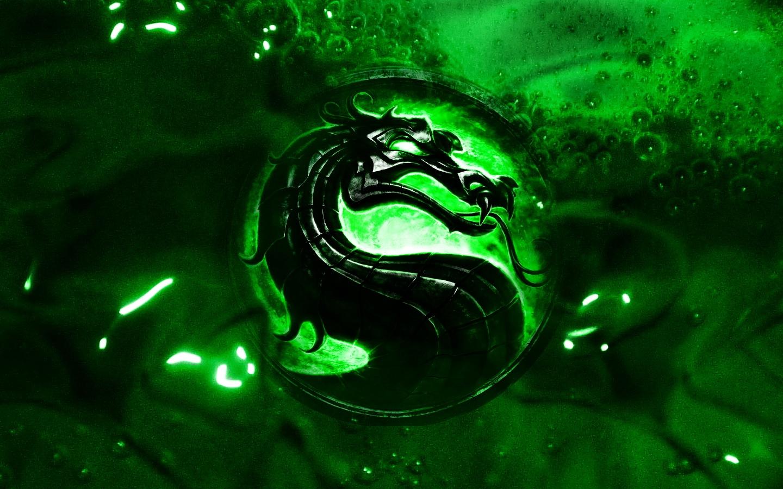 wallpaper black mortal kombat dragon logo