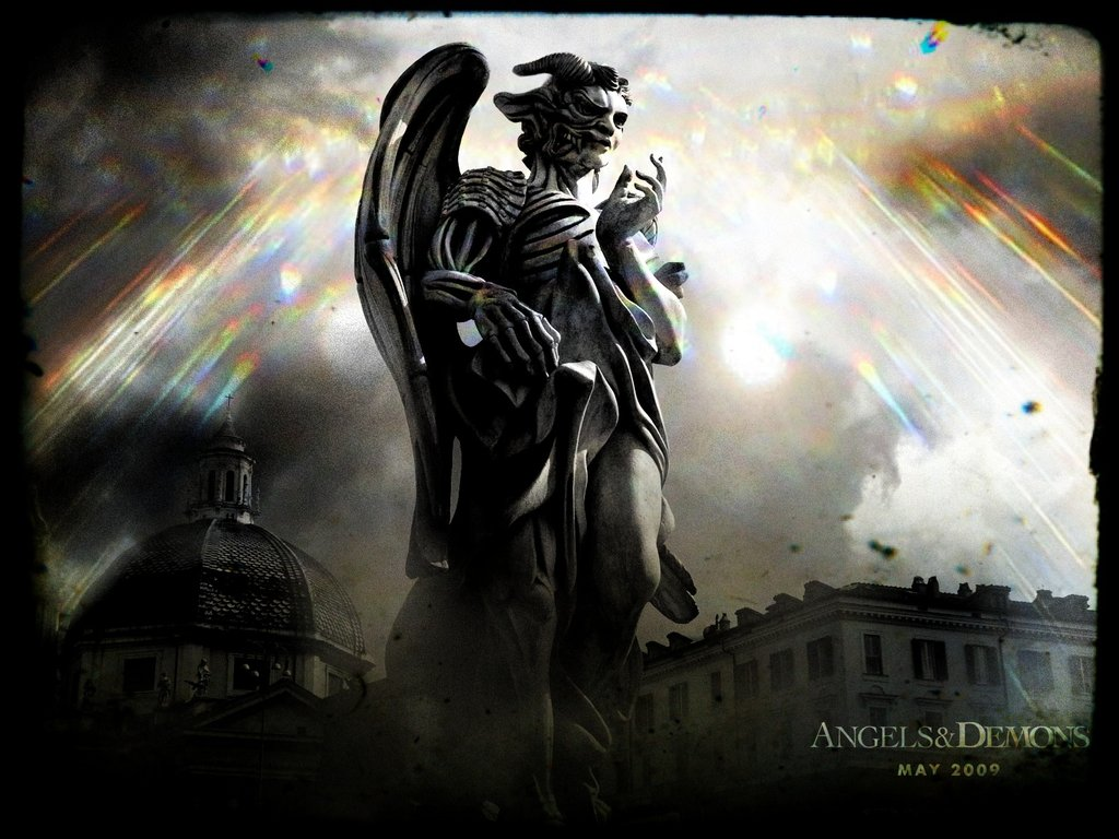 angel and demon wallpaper wallpapersafari