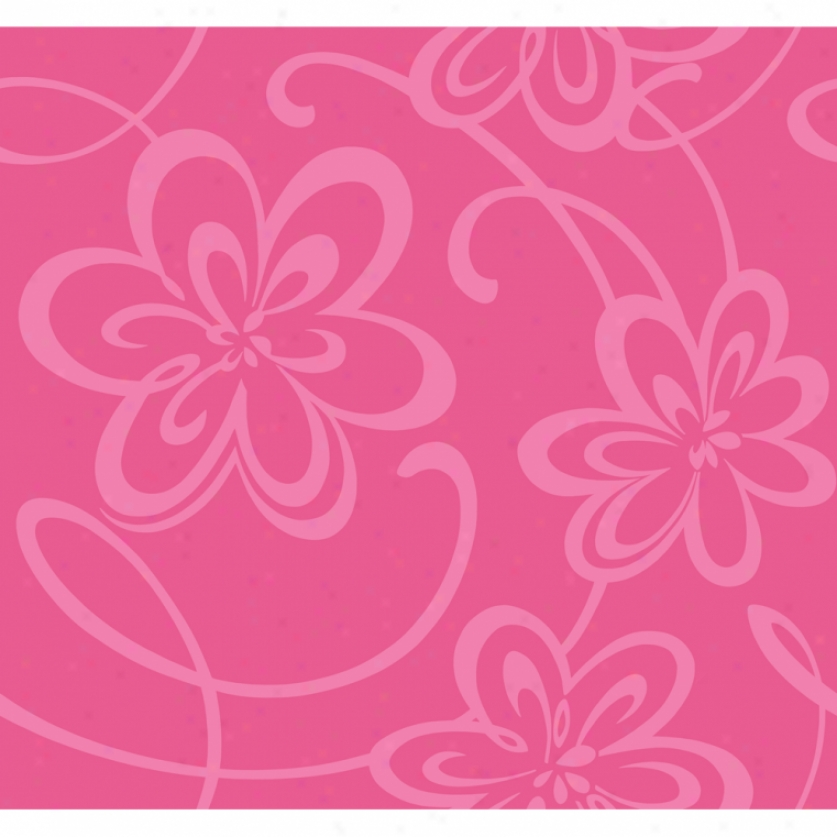 Glitter Floral Hot Pink Wallpaper Wall Decals The Home Flooring 837x837