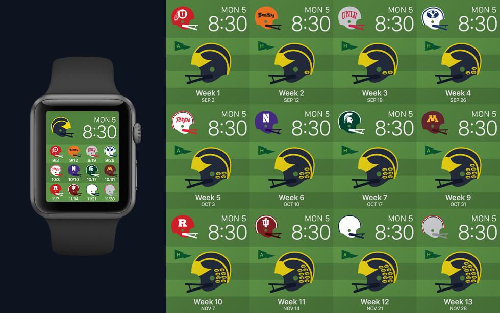 Download Apple Watch Faces 2015 Season Michigan Football Fan Art
