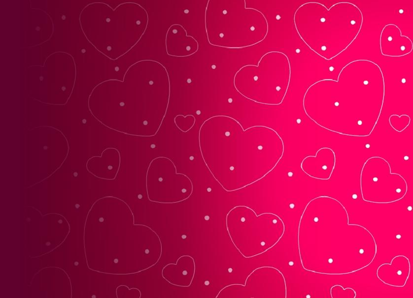 Nice Valentine Hearts Wallpaper Background 838x606