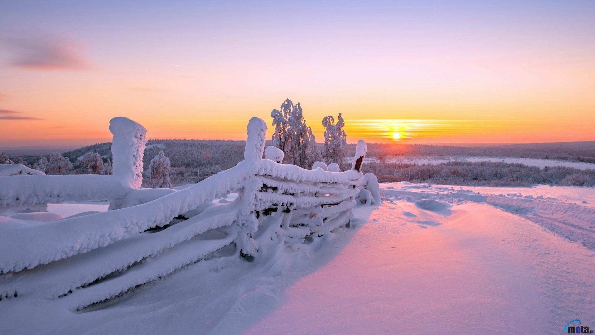Winter sunrise desktop wallpaper wallpapersafari for Foto inverno per desktop