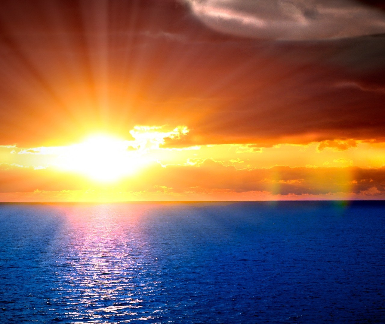 sun beams in Ocean view HD Wallpaper 9285 1280x1080