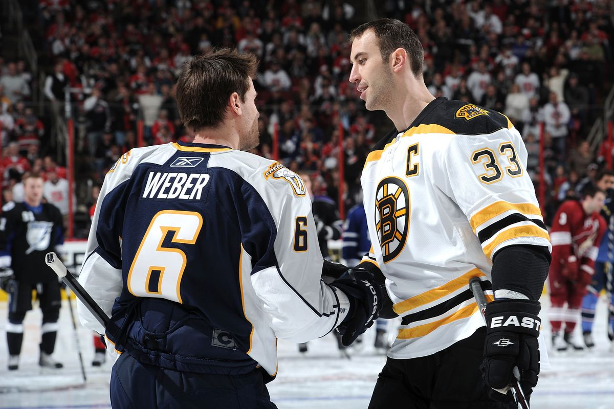 Zdeno Chara plays with a stiffer stick than Shea Webers special 1200x800