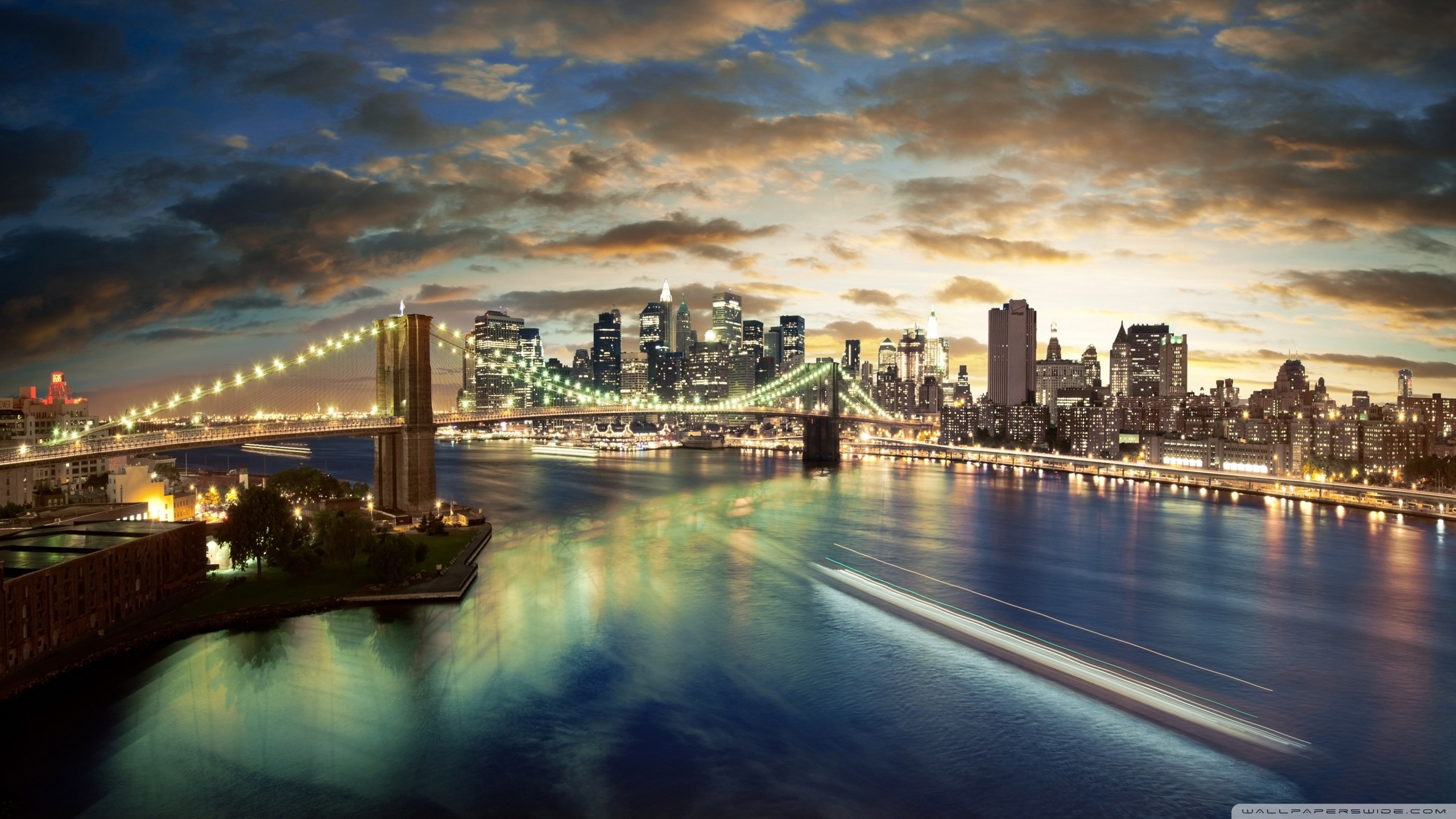 new york full hd wallpaper city brooklyn bridge wallpaper download 2560x1440