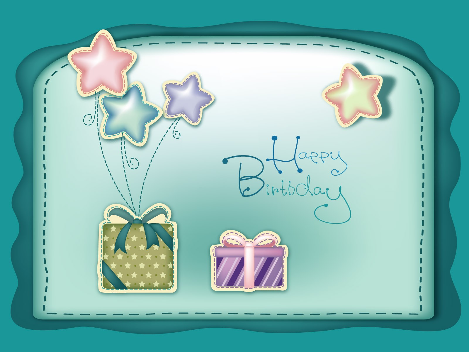 sober birthday greeting with cute little gifts embossed on front 1600x1200