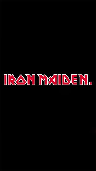 Iron Maiden Plain Logo iPhone 5C 5S wallpaper 325x576