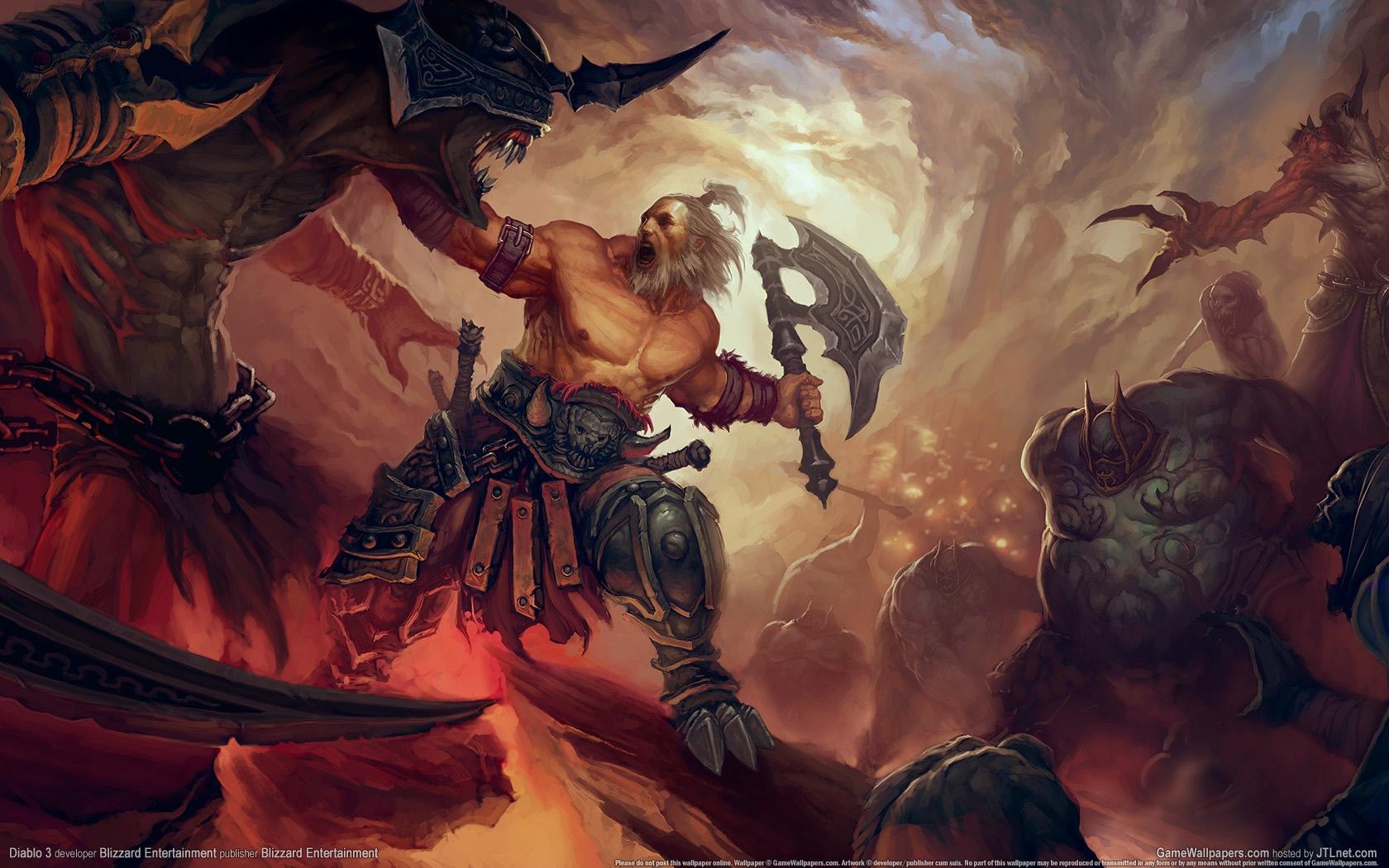 Barbarian Diablo Wallpaper 1680x1050 Barbarian Diablo III 1680x1050