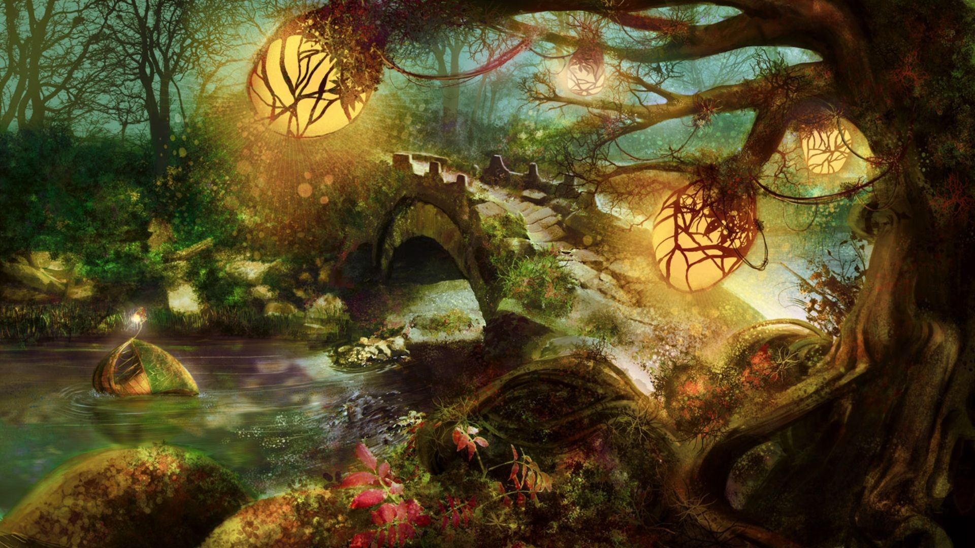 Nature Forest Wallpaper 1920x1080 Nature, Forest, Fantasy, Art ...