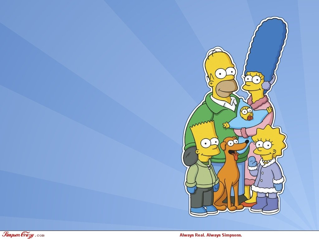Simpsons Christmas Wallpaper 1024x768