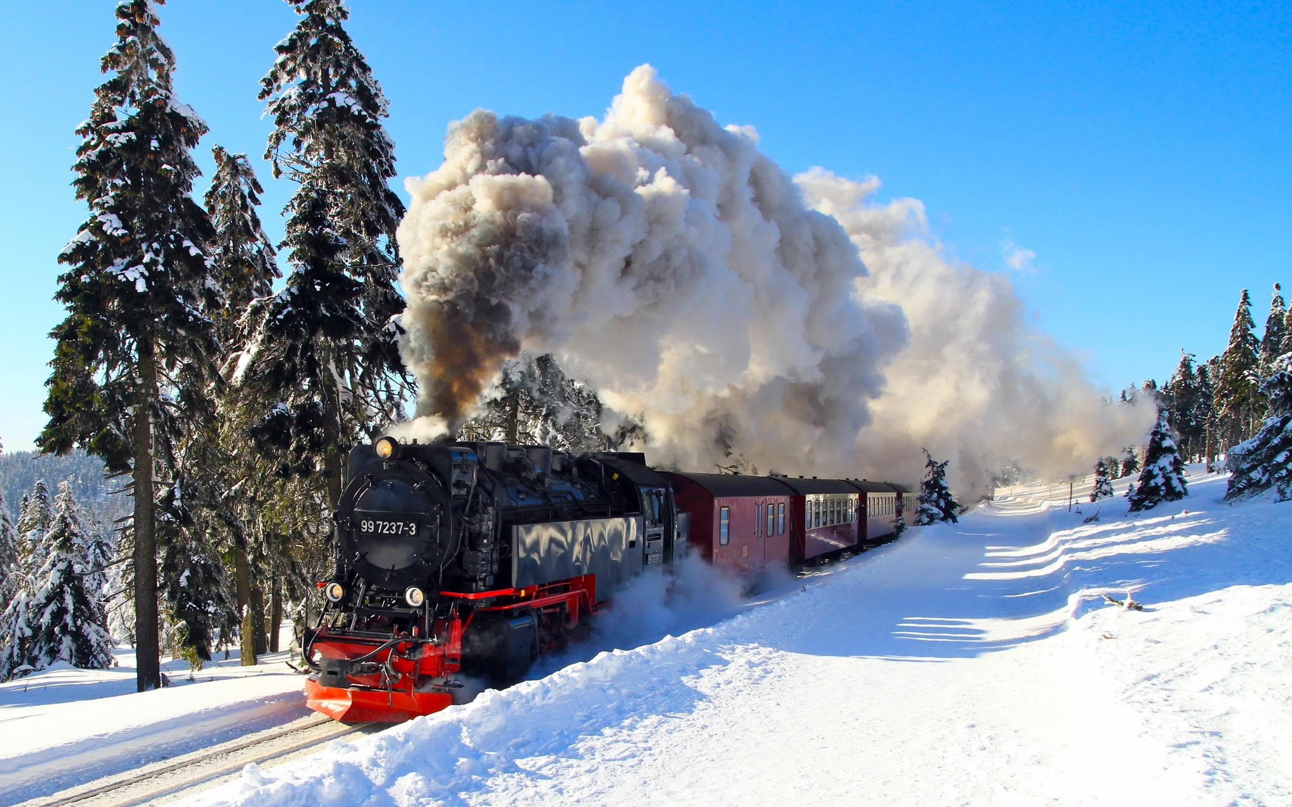 Free Download Fond Ecran Train Hd Paysage Hiver Neige