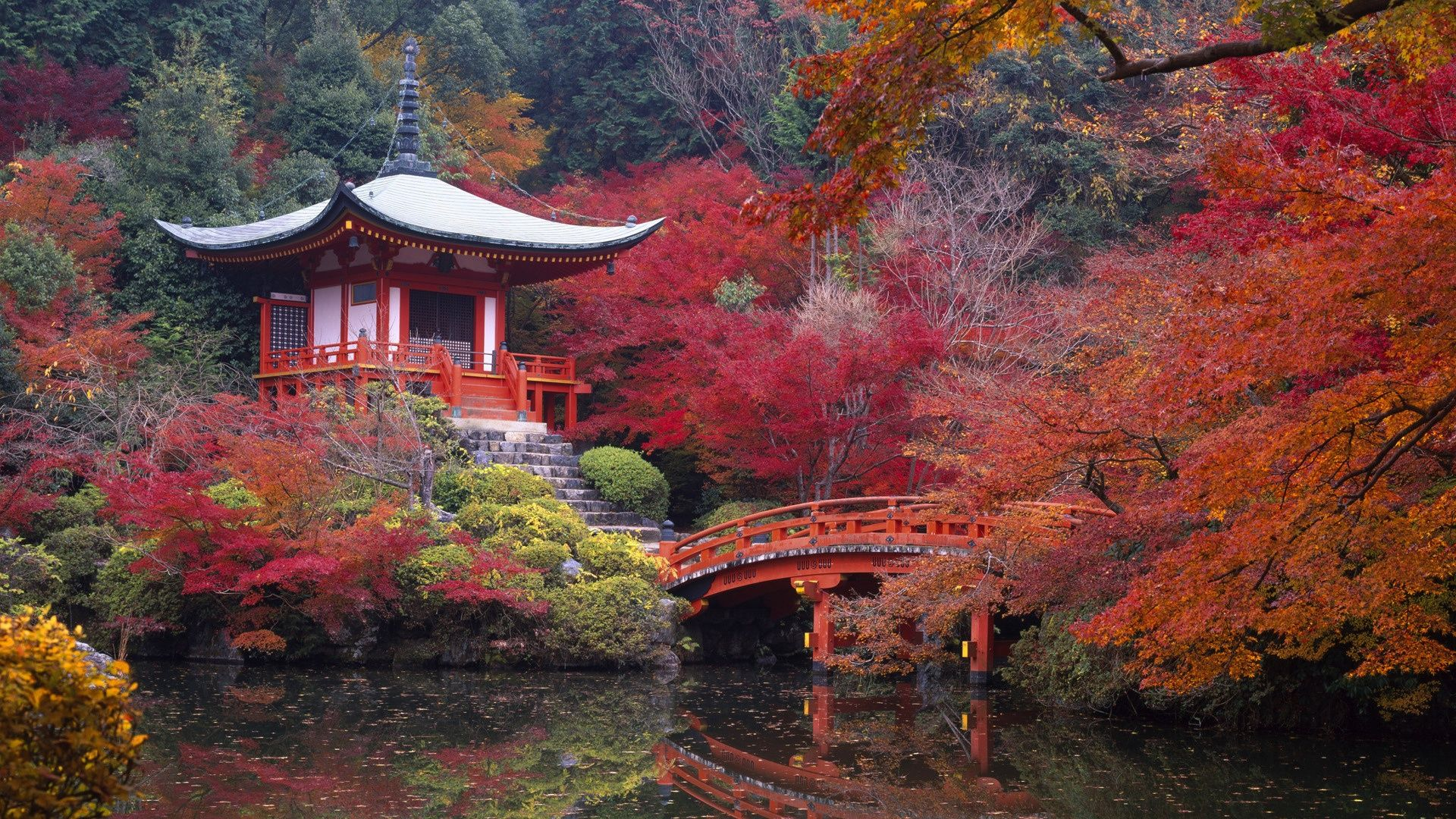 Colorful Japan Landscape Wallpaper PC Wallpaper 1920x1080