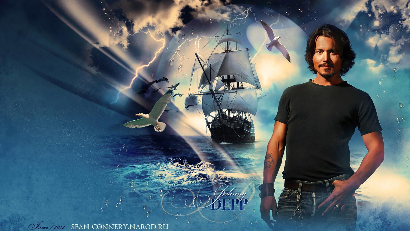 Johnny Depp Wallpapers by Bormoglot 1366x768