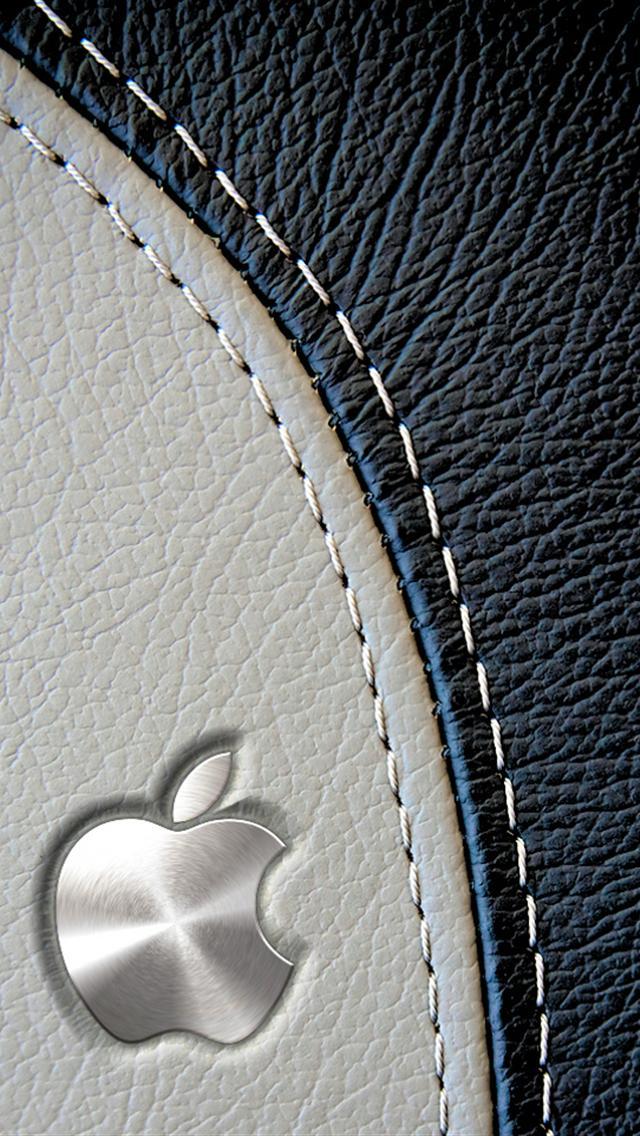 Leather Monogram iphone 5 wallpapers downloads 640x1136