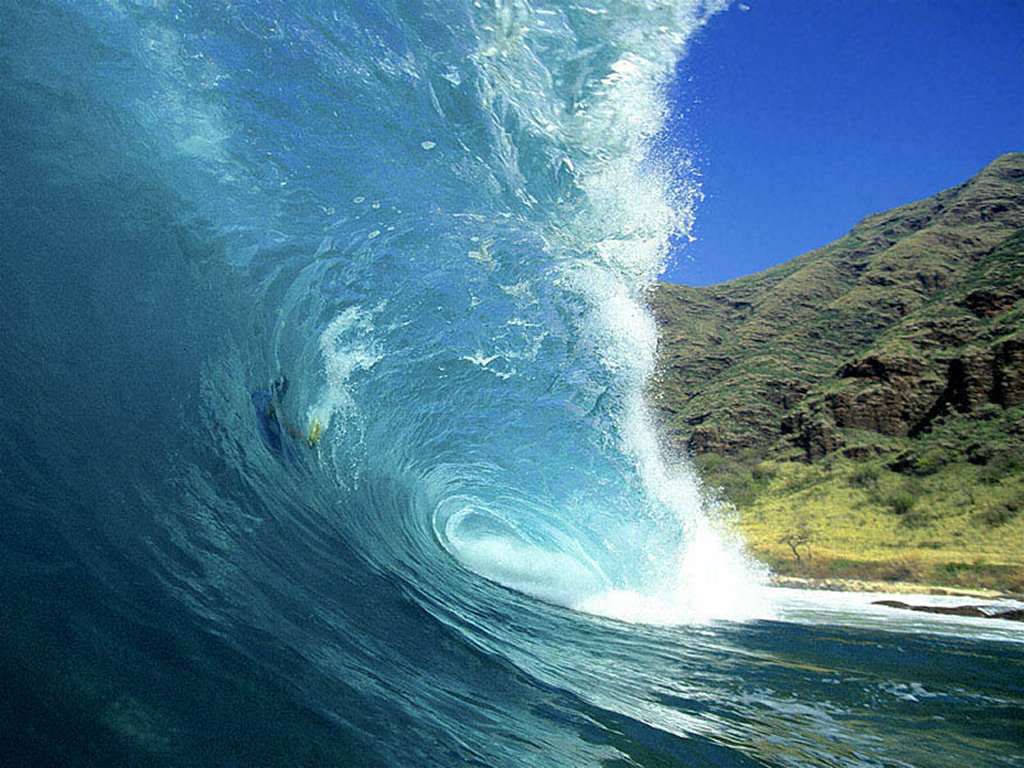 wallpaper Ocean Waves Wallpaper hd wallpaper background desktop 1024x768