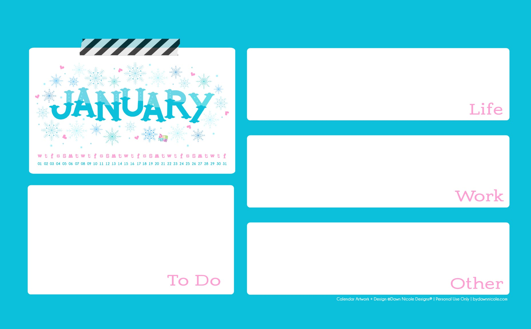 2020 Calendar Printable Wallpapers Dawn Nicole 1856x1151