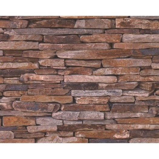 Stone Wall Look Wallpaper Traditional Wallpaper for sale in Mitcham 525x525