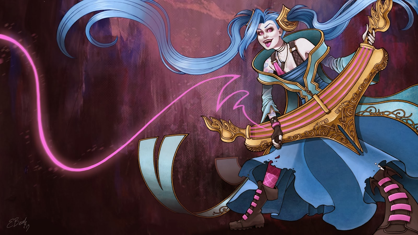 Jinx League of Legends Wallpaper Jinx Desktop Wallpaper 1600x901