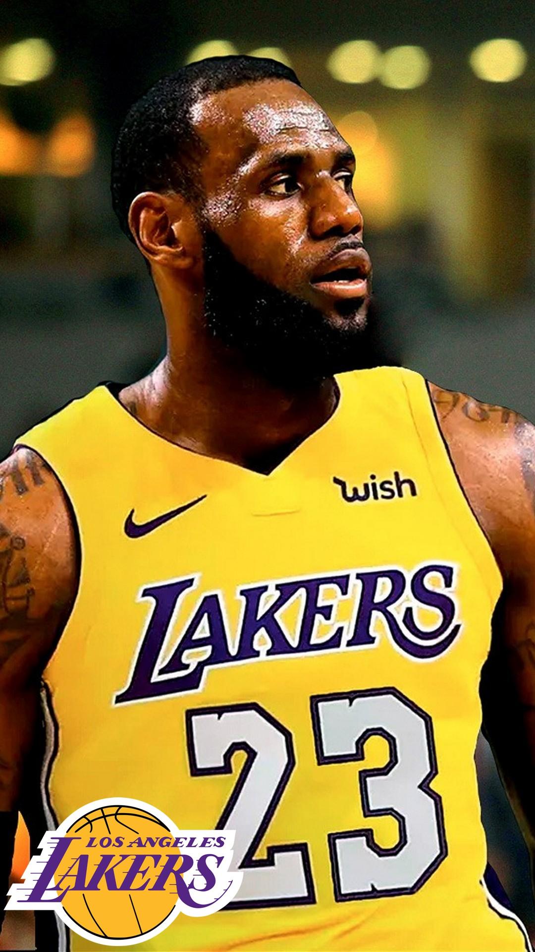 LeBron James Lakers iPhone 6 Wallpaper 2020 Basketball Wallpaper 1080x1920