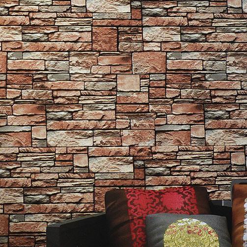 6141 3D Faux Brick Stone wallpaper 053m10mclassical vinyl wallpaper 503x503
