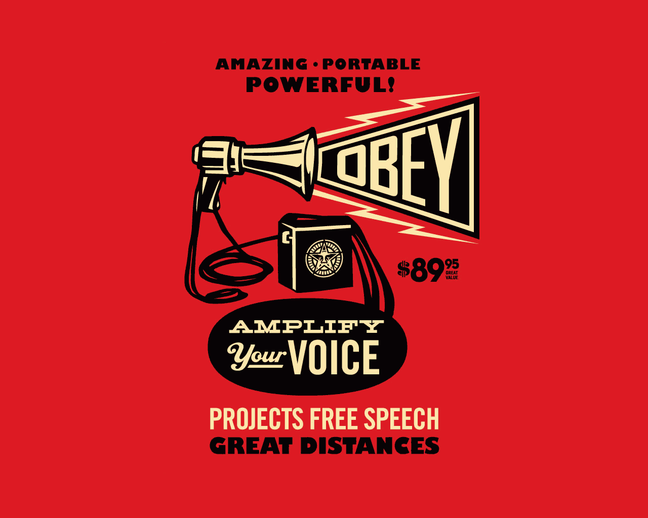 Obey Logo Background Poster obey wallpaper 1280x1024
