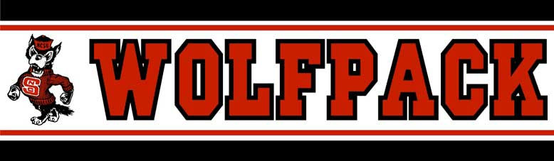 North Carolina State Wolfpack Wallpaper Border 778x227