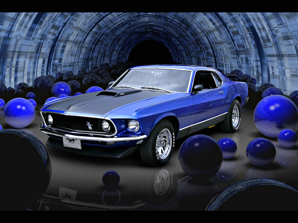 69 Mustang Mach 1 Wallpaper 1970 mach1 ford mustang by 1024x768