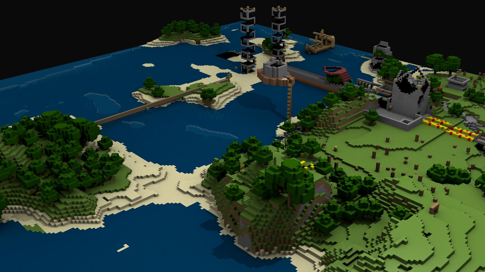 Central Wallpaper Minecraft Building Game HD Desktop Wallpapers 1600x900