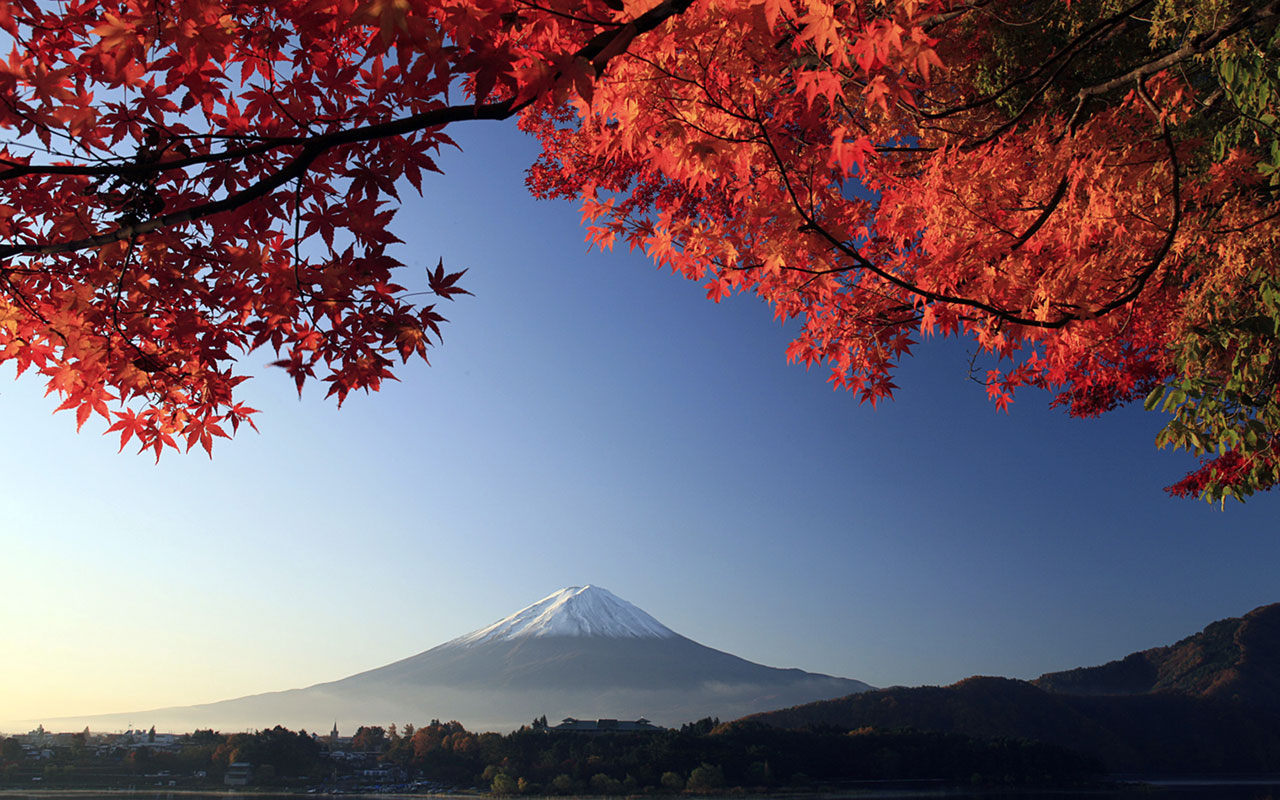 Japanese autumn scenery wallpaper Landscape Wallpapers 1280x800