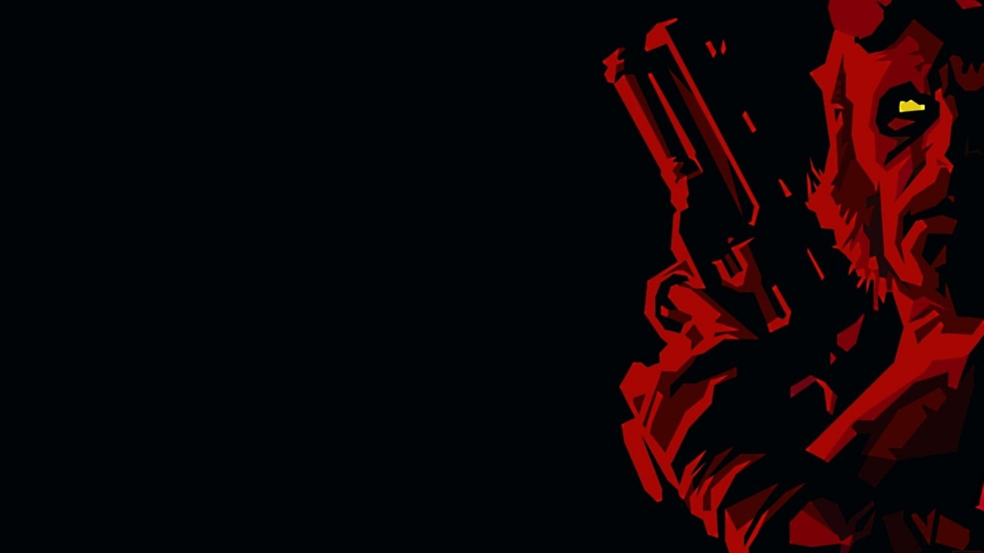 ScreenHeaven Hellboy black background comics yellow eyes 1920x1080