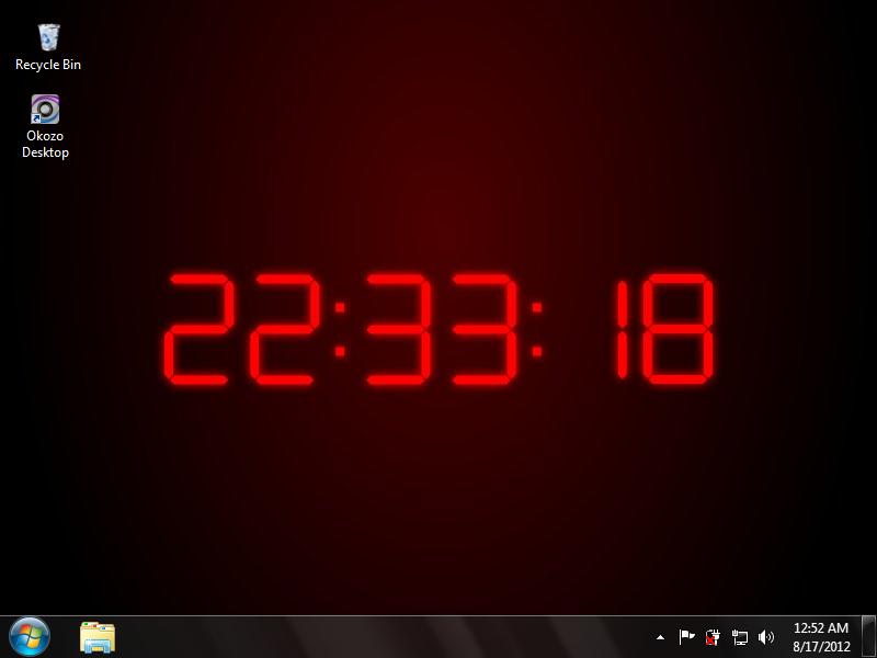 Free download 3D Digital Clock Wallpaper [800x600] for your