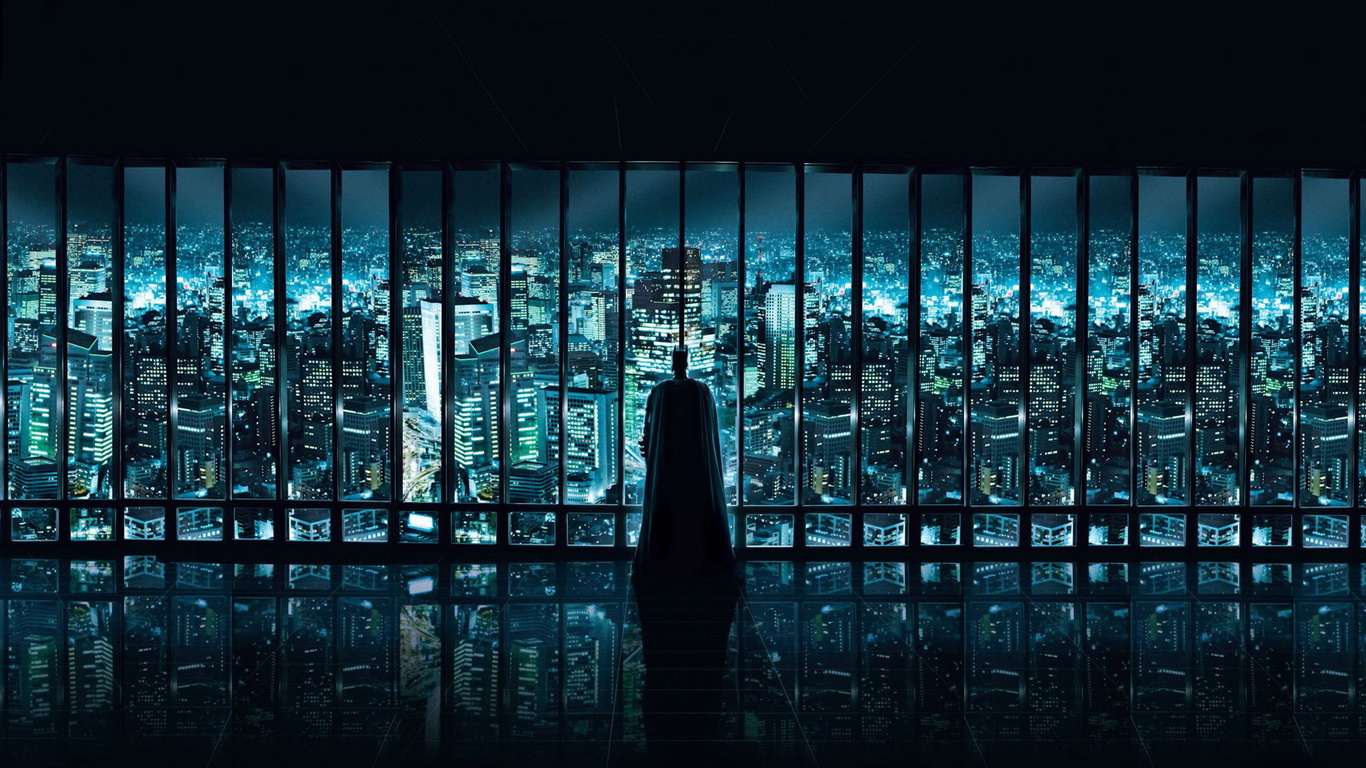 Wallpaper Dark Knight The Dark Knight Christian Bale Christian Bale 1366x768