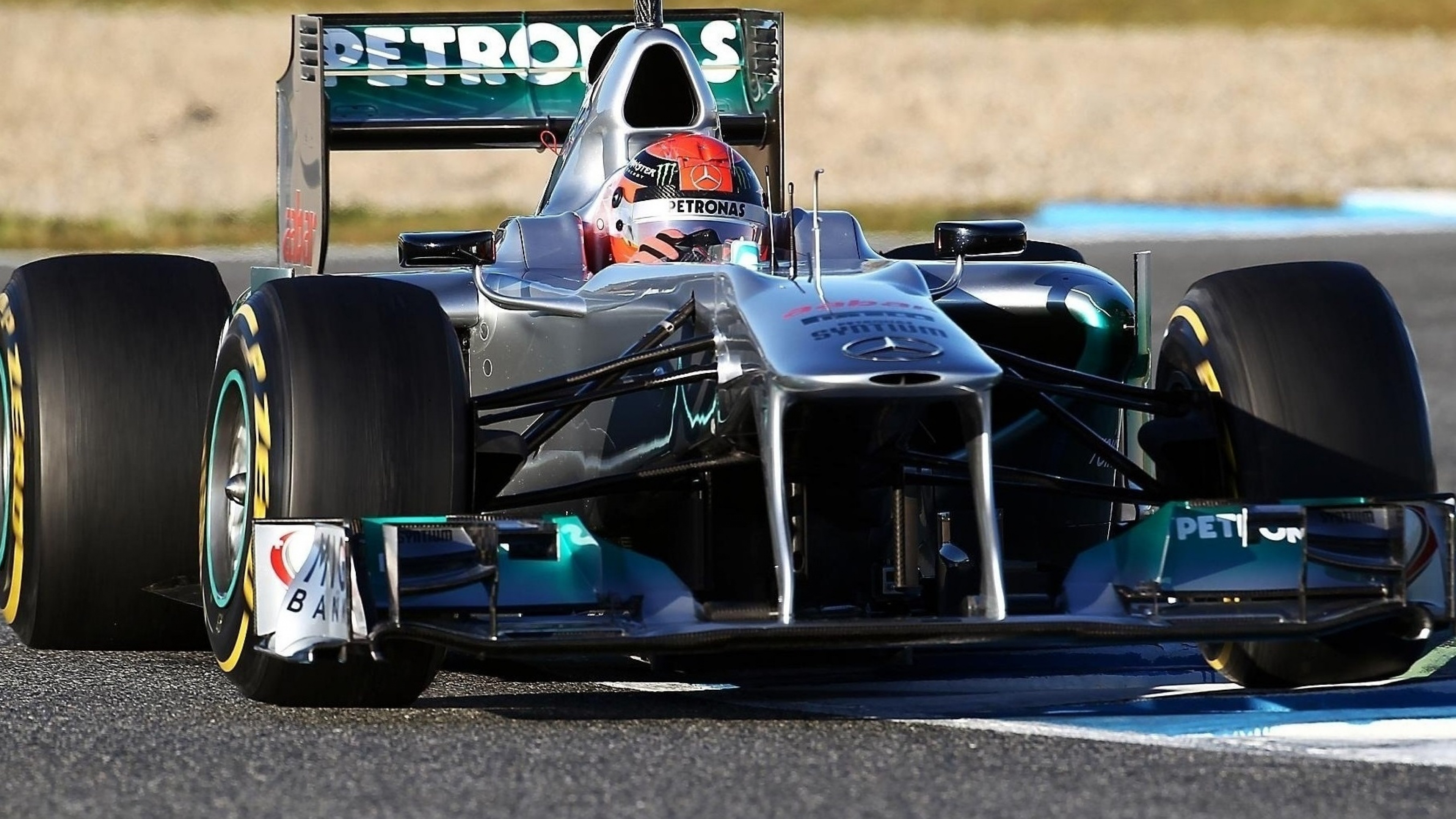 Download Wallpaper 3840x2160 Schumacher Mercedes F1 4K Ultra HD HD 3840x2160
