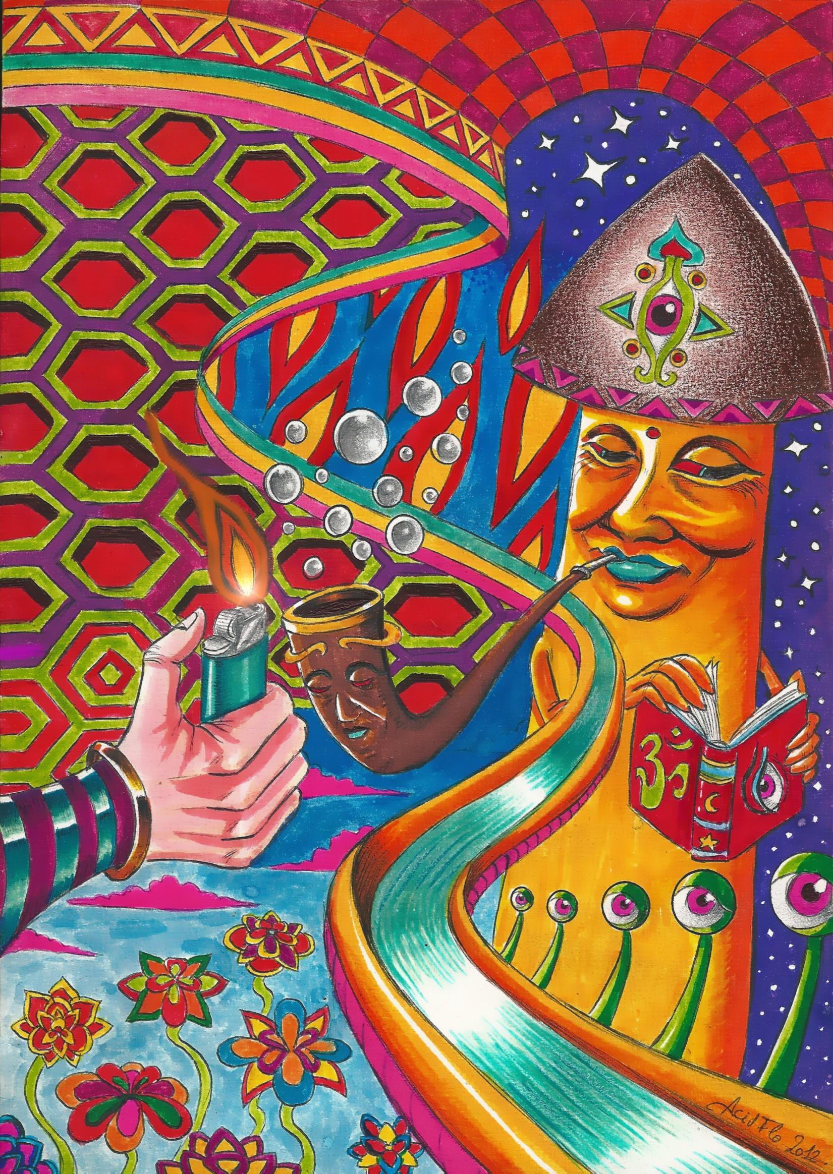 dark trippy acid wallpaper wallpapersafari