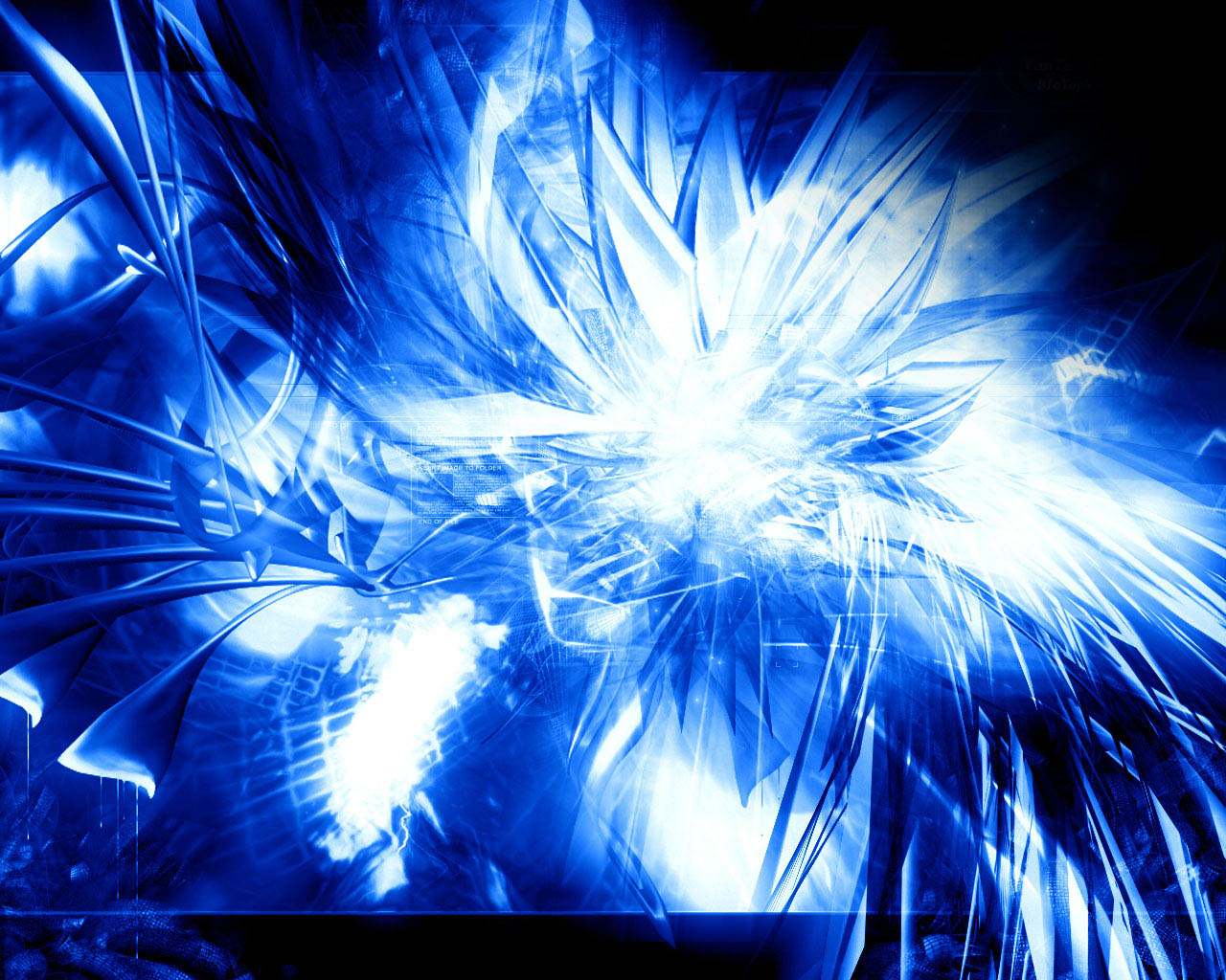 Pics Photos   Techno Blue Wallpaper 1280x1024
