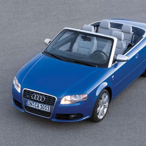 HD Blue Audi S4 Convertible Wallpaper 500x500