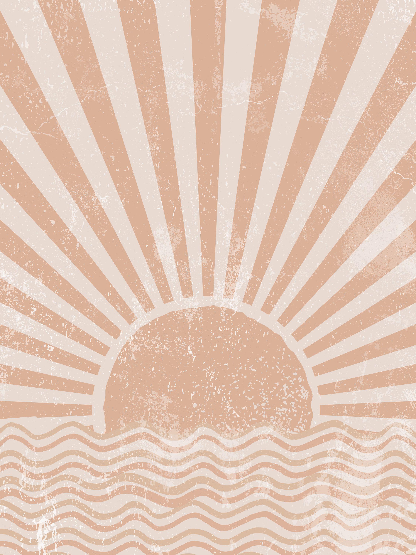 Sun Art Abstract Sun Wall Art Sunshine Print Sun Rise Art Sun 2250x3000