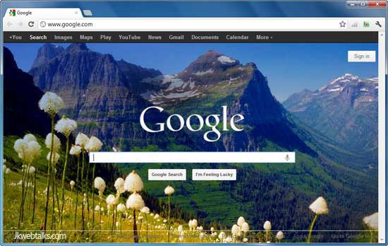 how to change wallpaper on google chrome homepage