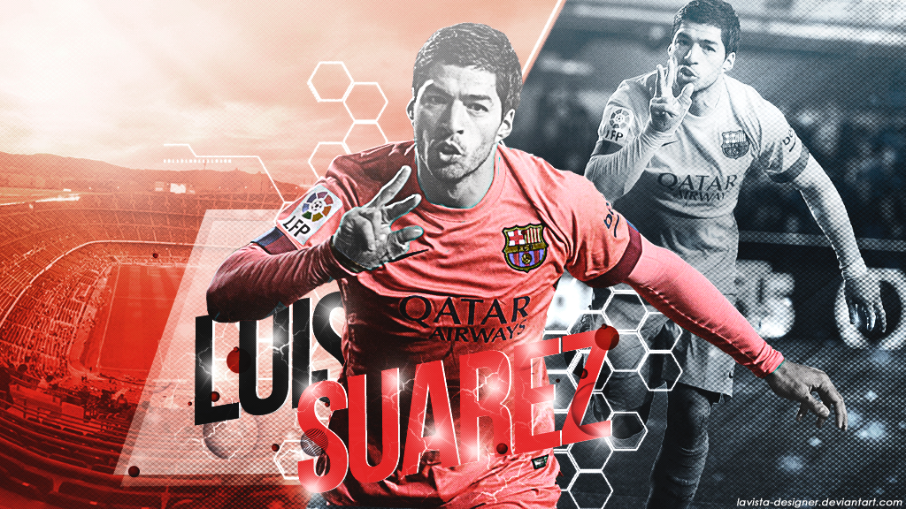 Luis Suarez   2015 Wallpaper by LaVista Designer 1024x576