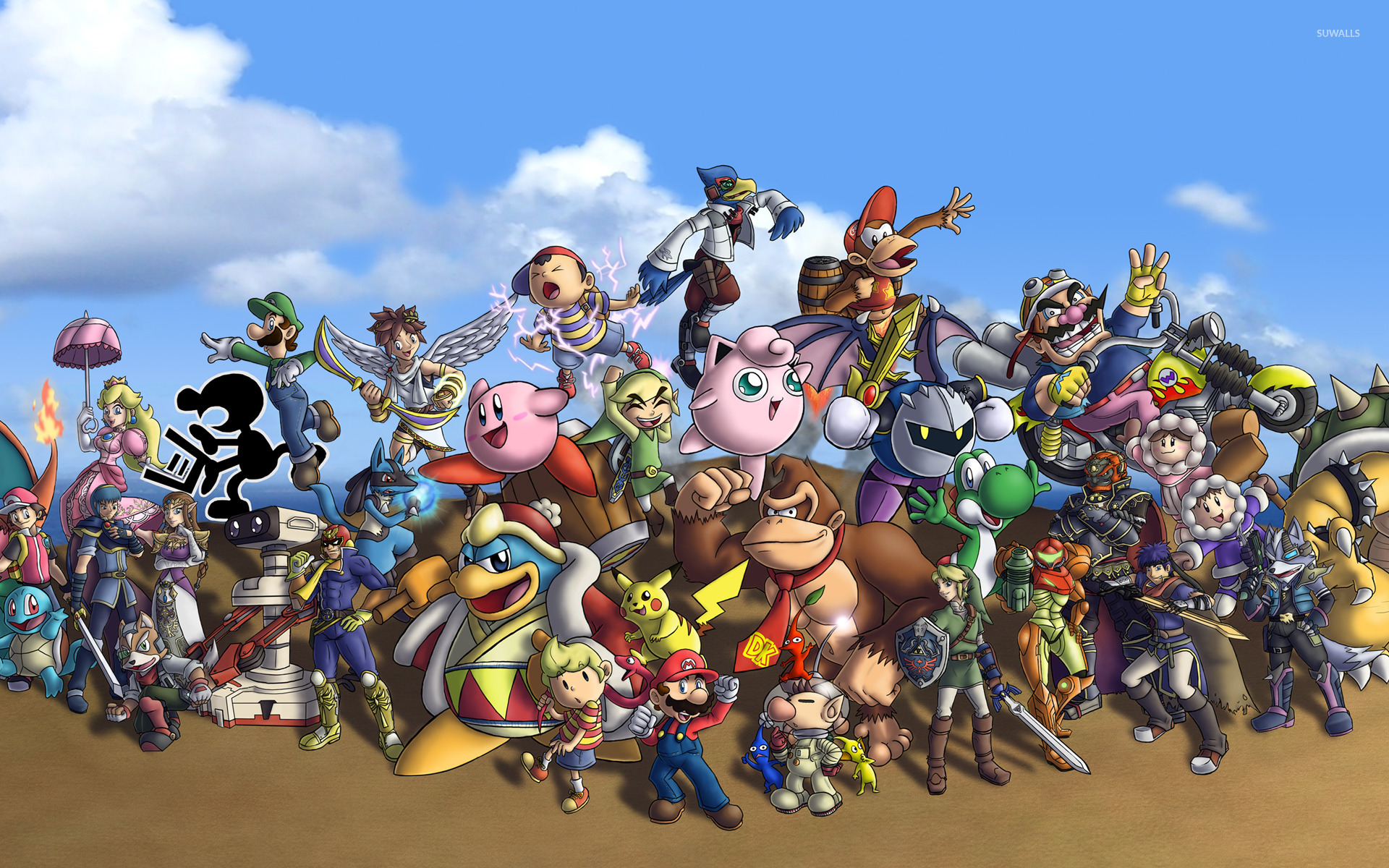 Free Download Super Smash Bros Wallpaper 1366x768 1366x768 For
