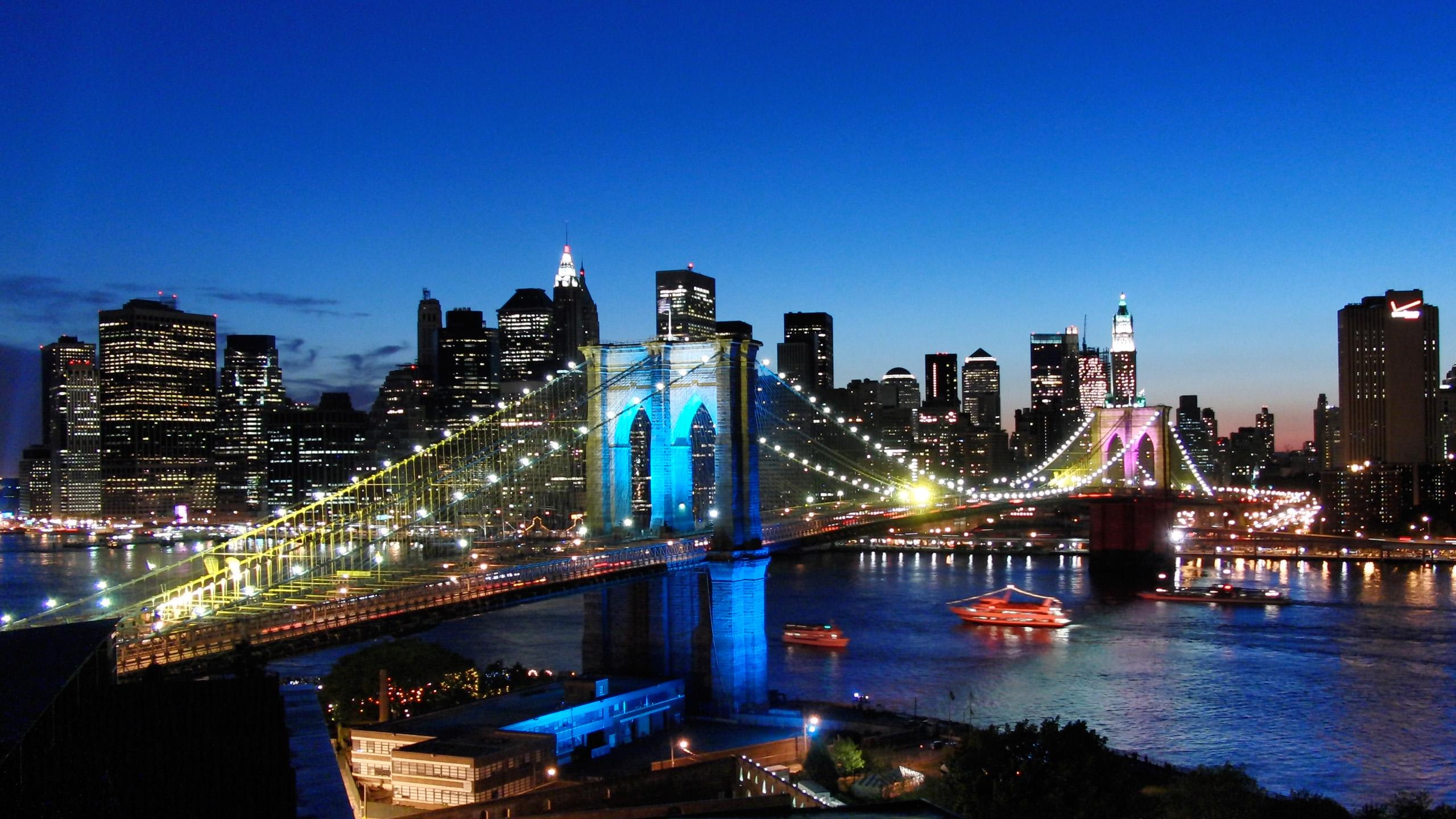 Free Download Manhattan Wallpaper River Bridge Brooklyn City