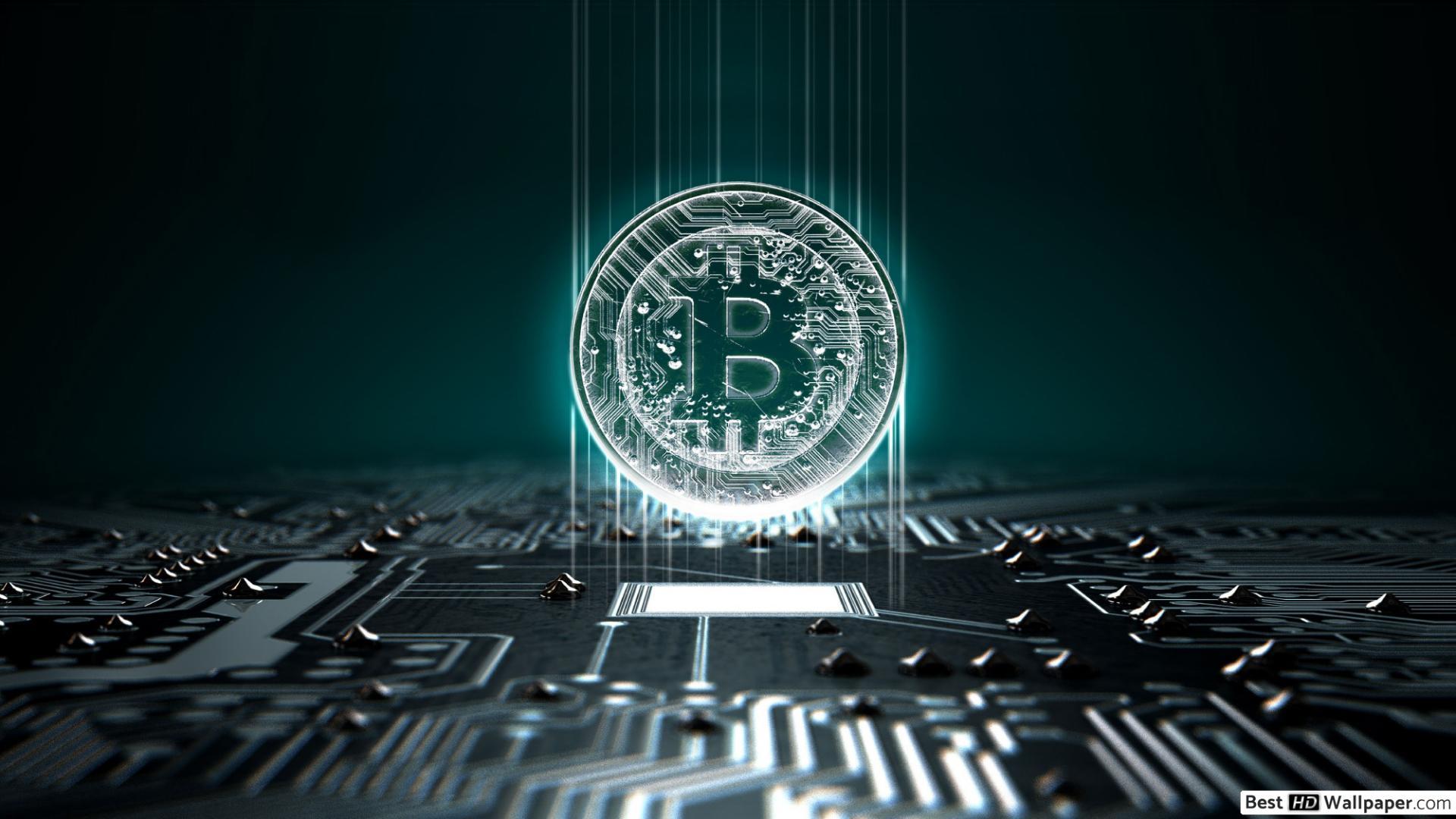 Digital Bitcoin HD wallpaper download 1920x1080