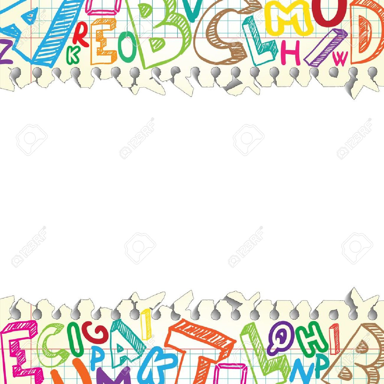 Background Made Of Papers With Colorful Letters Royalty 1300x1300