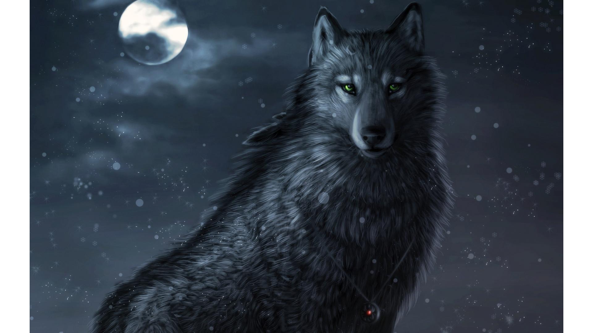 Animated Wolf 1920x1080 470392