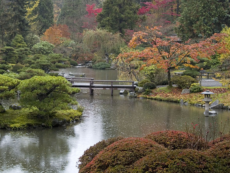 Zen Garden Wallpaper Widescreen Autumn 808x606